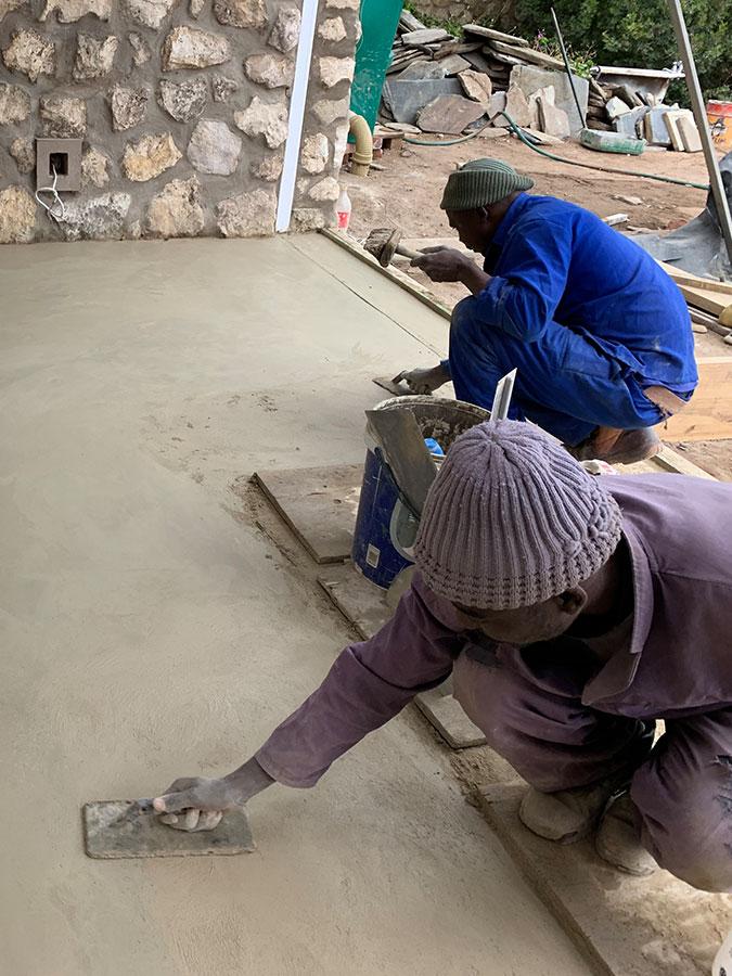 Enlarge concrete works